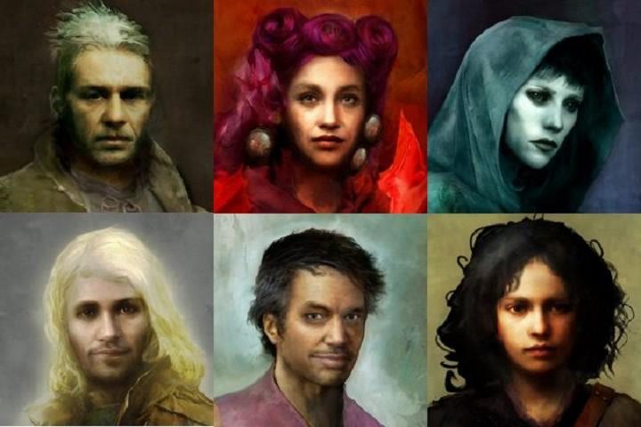ritratti dei compagni di Torment: Tides of Numenera