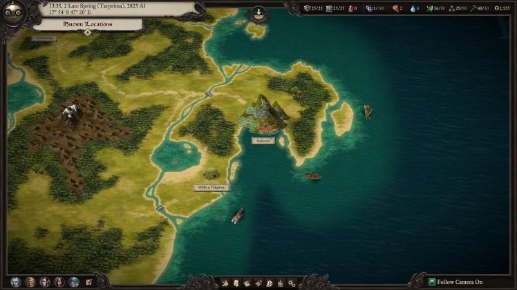 Mappa del mondo di Pillars 2