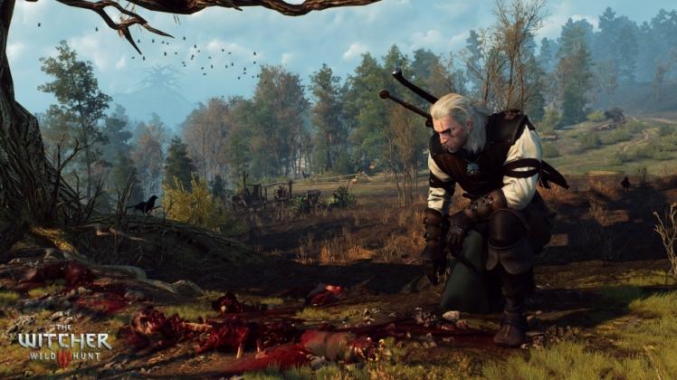 primo piano di Geralt di Rivia