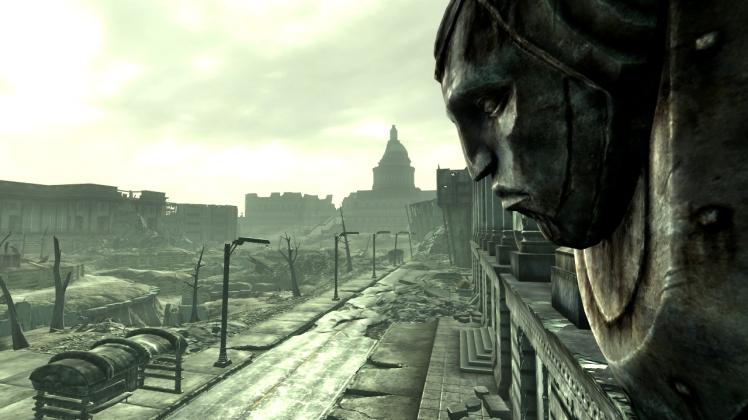 Le rovine post-apocalittiche di Washington D.C. in Fallout 3