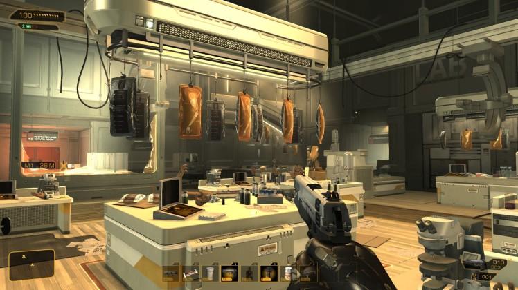 Adam Jensen's point of view in Deus Ex: Human Revolution
