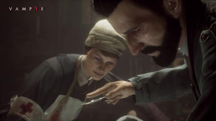 il dottor Reid in azione con un paziente e l'infermiera Crane