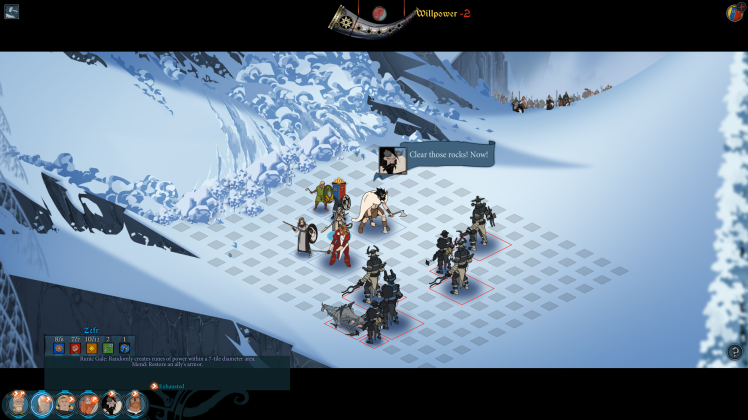 combattimento in The Banner Saga 2