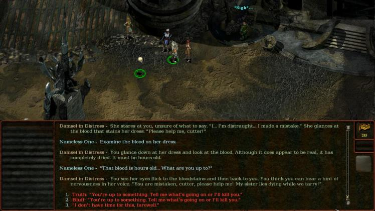 dialogue in Planescape: Torment