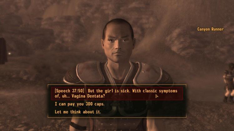 conversazione con un legionario in Fallout: New Vegas